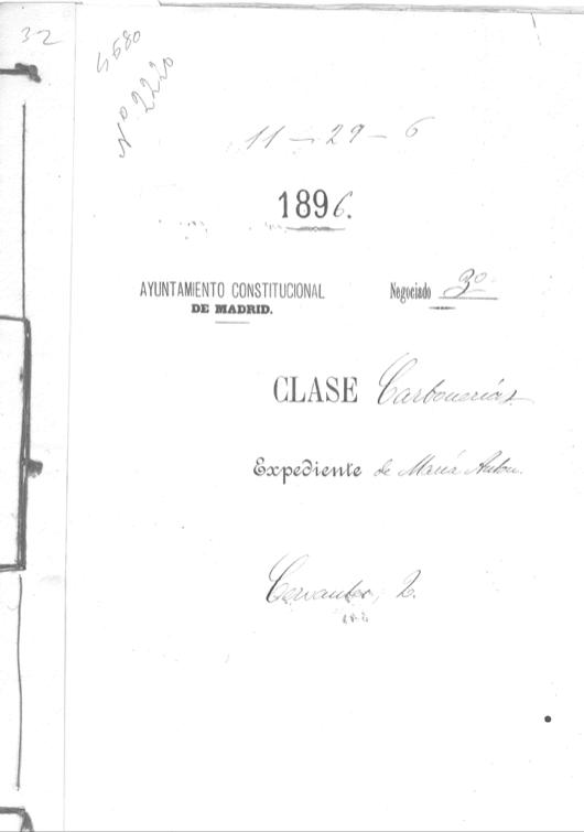 CMaria Antón abre su despacho de carbón, 1896