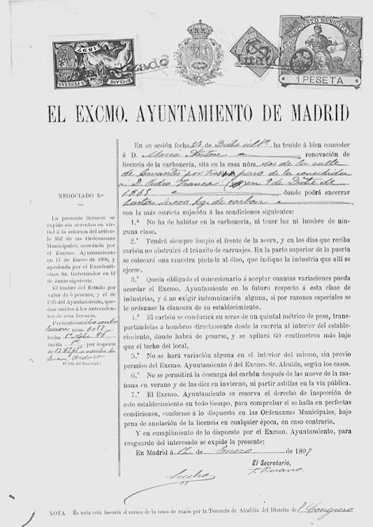 DMaría Antón renueva su carbonería, 1907