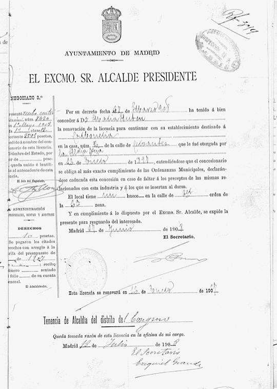 FMaría Antón renueva la carbonería, 1907